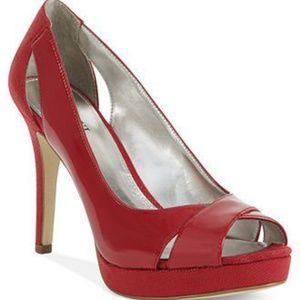 Alfani Fairfax Red Platform heels